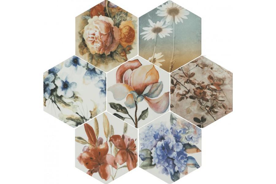 Купить Керамогранит Toscana Flores Acuarelas Mix 25,8X29*