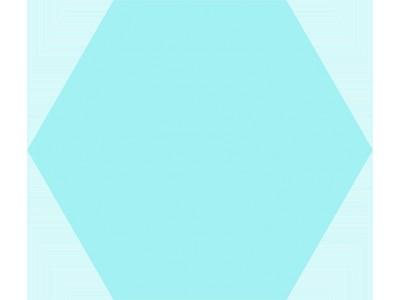 Basic Hex.25 Aqua 25x22
