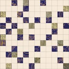Mosaico Stariy Arbat Glam Blue-Gold 30x30