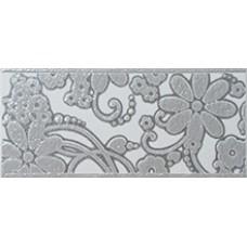Flores Gris Cenefa 11 x 25