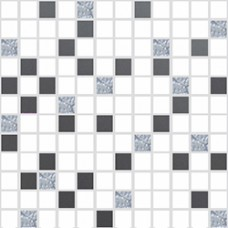 Mosaico Primavera White-Gris 30 x 30