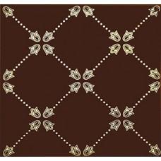 Paisley Chocolate Net Decor 20 x 20