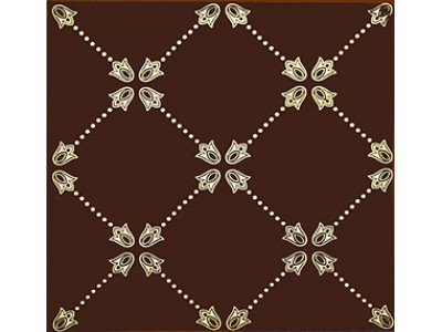Paisley Chocolate Net Decor 20 x 20