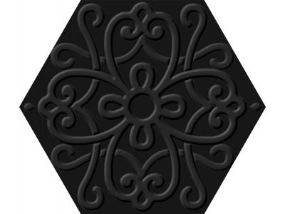 Flora Hexa Black 23,2x26,7