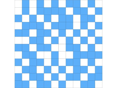 Мозаика SHINE MOSAICO WHITE-BLUE 30x30