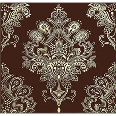 Paisley Chocolate Decor 20 x 20