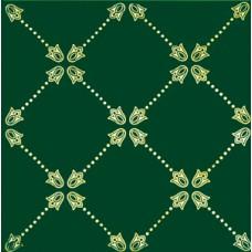 Paisley Verde Botella Net Decor 20 x 20