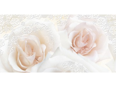 Декор Марвел Розе-1 Перла 25х50