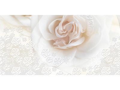 Декор Марвел Розе-2 Перла 25х50