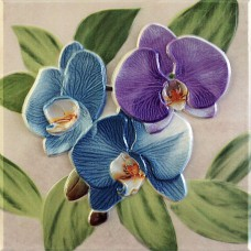 Orquideas Malva Placa Decor 20 x 20