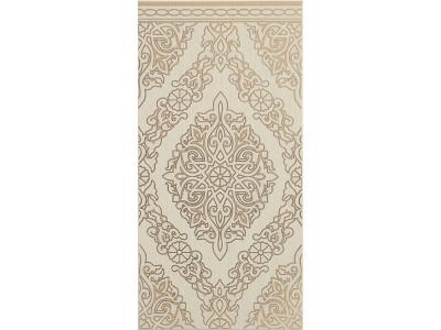 Декор Сиена Арабеска-1 Бежевый 25х50