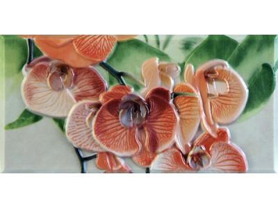 Orquideas Naranja Cenefa-1  10 x 20
