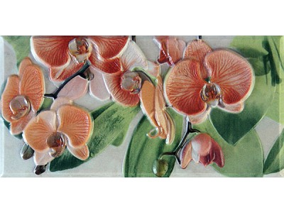 Orquideas Naranja Cenefa-3 10 x 20