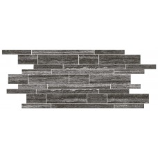 Italian Icon Vein Cut Black Muretto Mosaico 30x60 Nat  (под заказ)