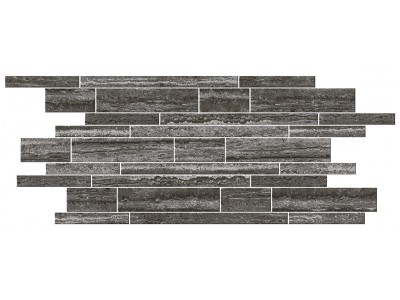 Italian Icon Vein Cut Black Muretto Mosaico 30x60 Nat  (под заказ)