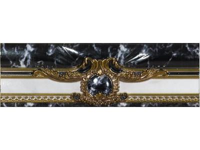 Siracusa Sofia Decor Negro Cenefa 8x25