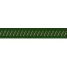 Paisley Verde Botella Cordon 2,5 x 20