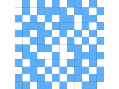 Mosaico Shine White-Blue 30 x 30