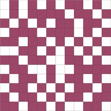 Mosaico Shine White-Lila 30 x 30