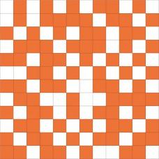 Mosaico Shine White-Orange 30 x 30
