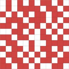 Mosaico Shine White-Red 30 x 30
