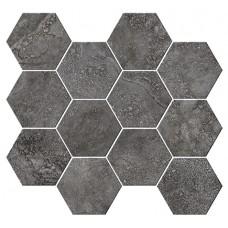 Italian Icon Cross Cut Black Mosaico Esagoni T12 32,8x35 Nat- Rett (под заказ)