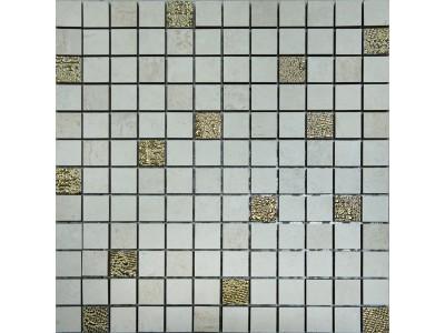 Nerea Mosaico Crema-Beige-Gold 30 x 30