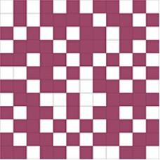 Shine Mosaico White-Lila 30x30