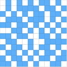 Shine Mosaico White-Blue 30x30