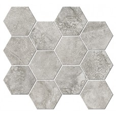 Italian Icon Cross Cut Grey Mosaico Esagoni T12 32,8x35 Nat- Rett (под заказ)