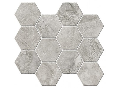 Italian Icon Cross Cut Grey Mosaico Esagoni T12 32,8x35 Nat- Rett (под заказ)