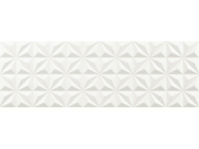 Snow Glass Geo Glossy Blanco 30x90