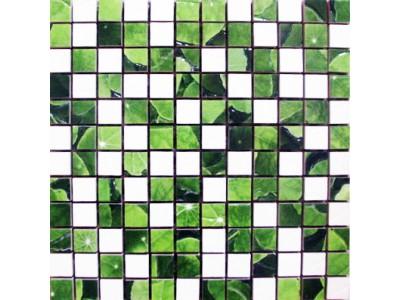 Lotus Mosaico Blanco-Verde 30 x 30