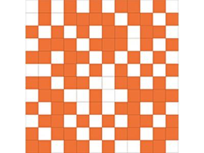 Shine Mosaico White-Orange 30x30