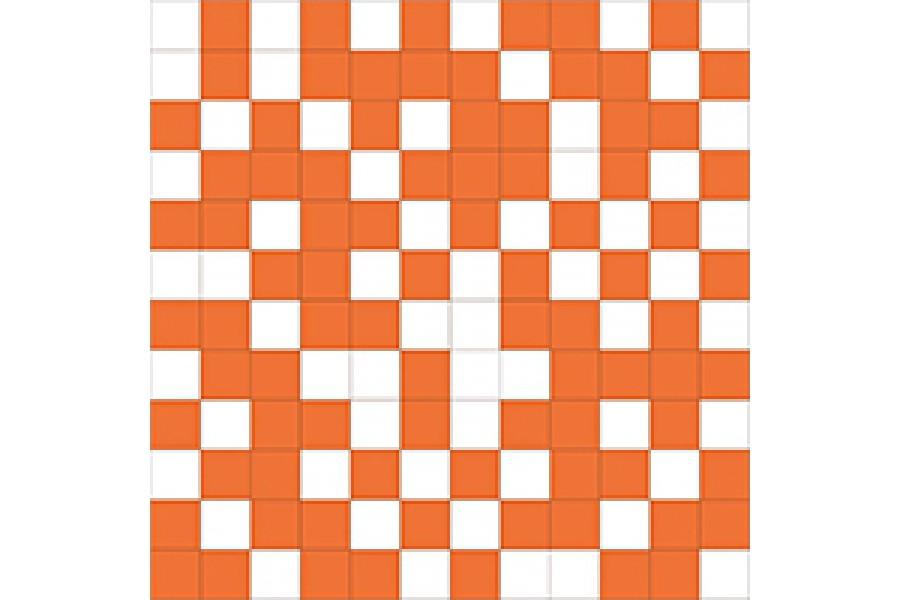 Купить Shine Mosaico White-Orange 30X30