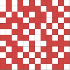 Shine Mosaico White-Red 30x30