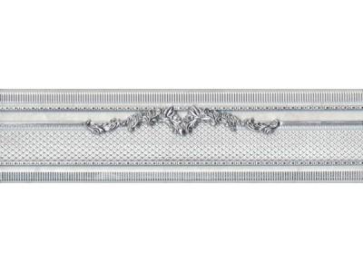 Siros Plata-Perla Cenefa 8x30