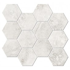Italian Icon Cross Cut White Mosaico Esagoni T12 32,8x35 Nat- Rett (под заказ)