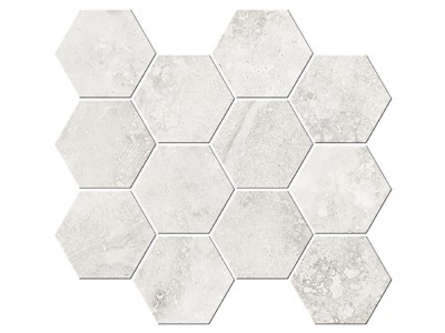 Italian Icon Cross Cut White Mosaico Esagoni T12 32,8x35 Nat- Rett (под заказ)