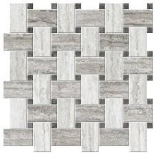 Italian Icon Vein Cut Chesterfield Mix Freddo Mosaico 42,1x42,1 Nat (под заказ)