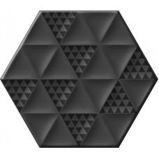 Malmo Hexa Black 23,2x26,7
