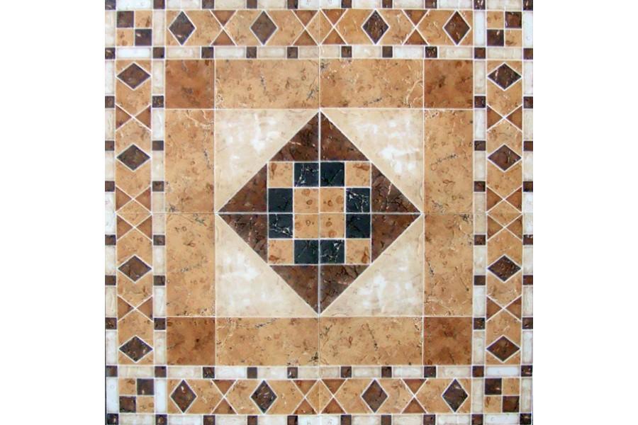 Купить Плитка Напольная Mosaico Siena Roseton 60Х60