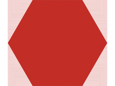 Basic Hex.25 Red 25x22