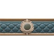 Cenefa Bellini Blue Roseton 8x25