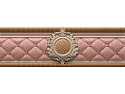 Cenefa Bellini Pink Roseton 8x25