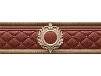 Cenefa Bellini Red Roseton 8x25