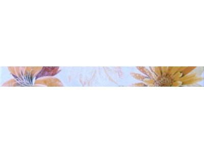 Cenefa Soul Flower Naranja 4.5x50