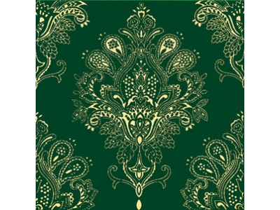 Paisley Verde Botella Decor 20 x 20
