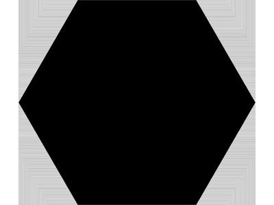 Basic Hex.25 Black 25x22